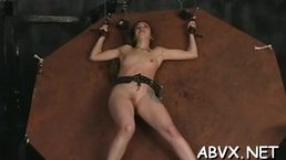 Naughty spanking and sex in bondage movie